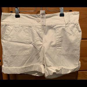 Brand new white LOFT shorts!